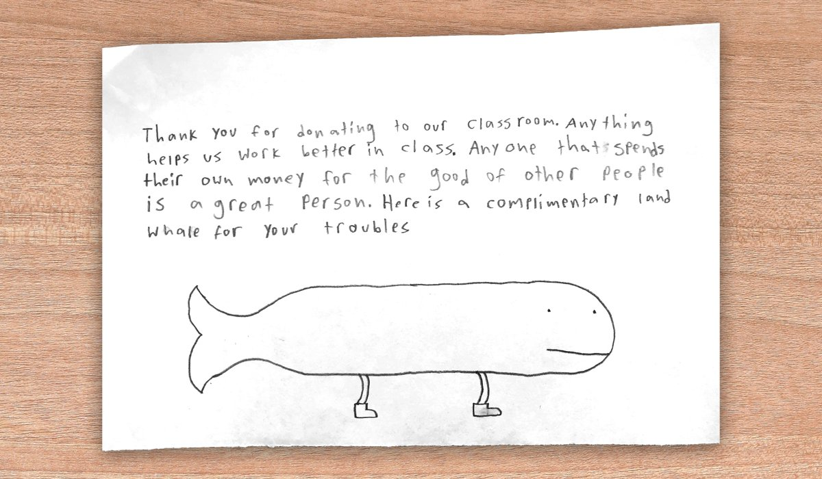 With the right resources, anything is possible. (Even a land whale!) #ShareThanks
