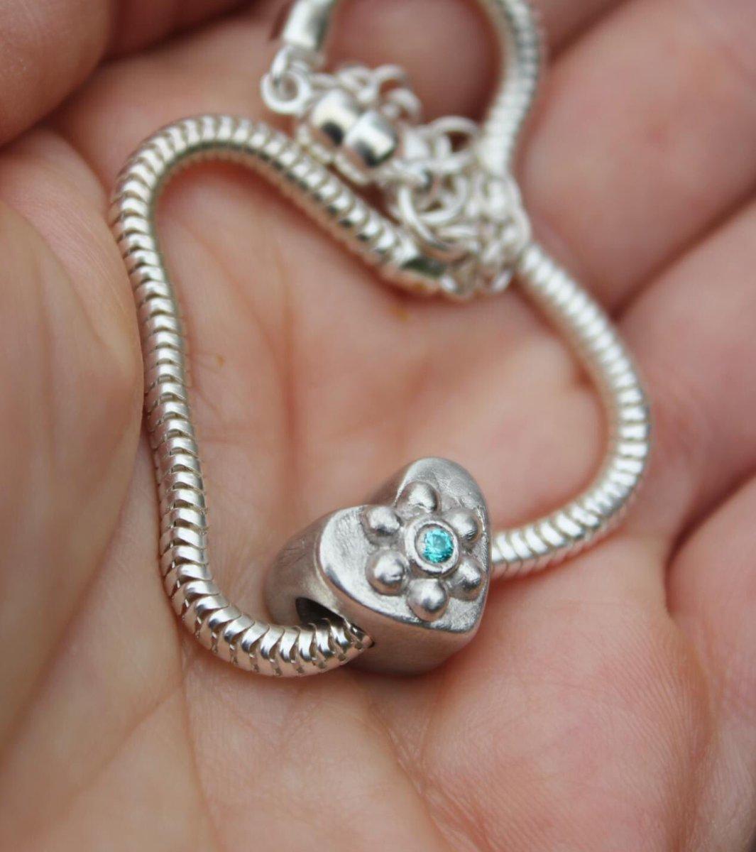 Thrilled with my first handmade pandora charm bead ❤️