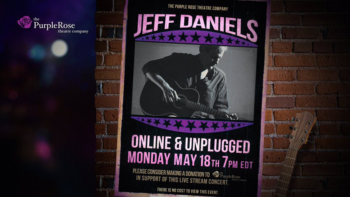Tonight. 730pm EDT. Purple Rose Theatre YouTube Channel. Fourth & Final. New Set List.