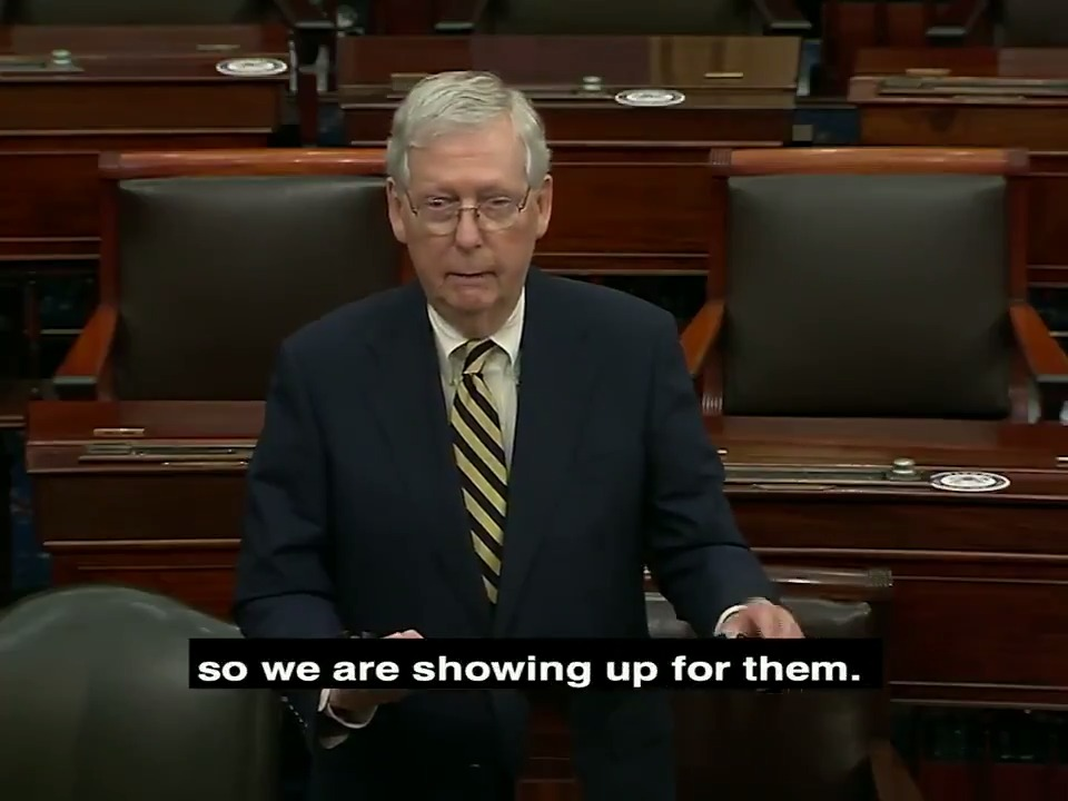 A new generation of American heroes has been called to serve their neighbors and their nation. They are showing up for our country. So the Senate is showing up for them.