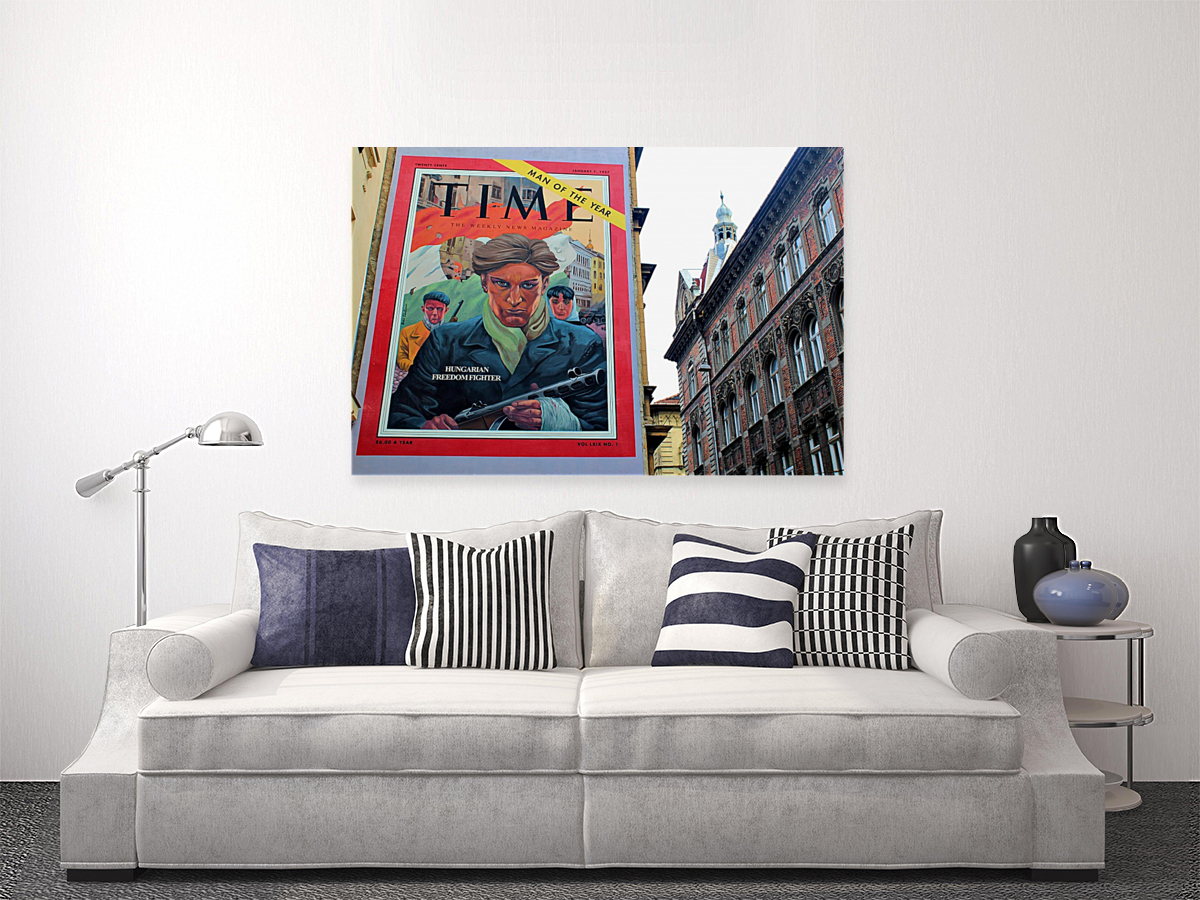 """Here at #decorandwall we love street art and we want to make it so you can enjoy it in your own space. This piece, """"Hungarian Freedom Fighter Street Art"""" can now be yours to admire. #StreetArt #art #interiordesign #Quarantine  #photographylovers #wallart #homedecor #PHOTOSpic.twitter.com/gLlG2Te8MW"""