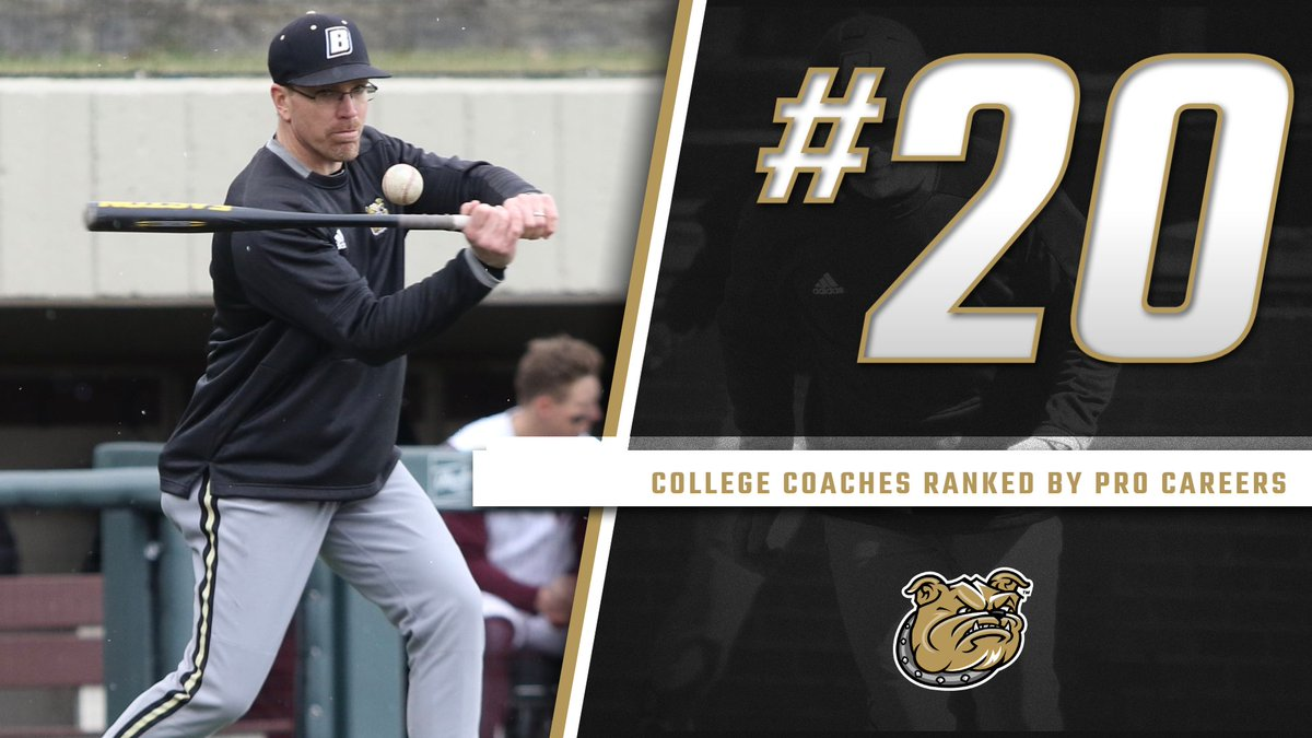 .@BaseballAmerica ranked college baseball coaches based on their pro careers.   @Coach_Klosty came in at No. 20.  Klosty played eight seasons of affiliated baseball, including three at the Triple-A level.   https://t.co/edklzcZMJF https://t.co/fqJ36Us5Yu