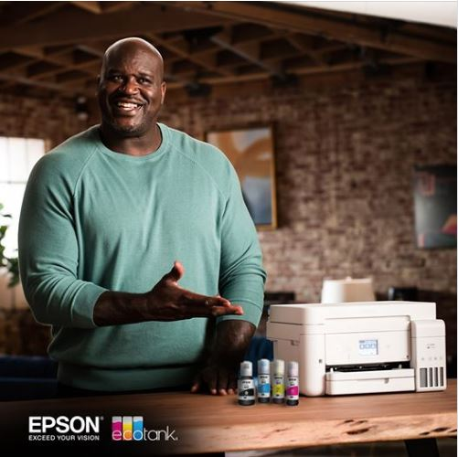 Epson #EcoTank holds a ridiculous amount of ink. Let's get printin'. 🔥 #JustFillAndChill #Epson #Shaq