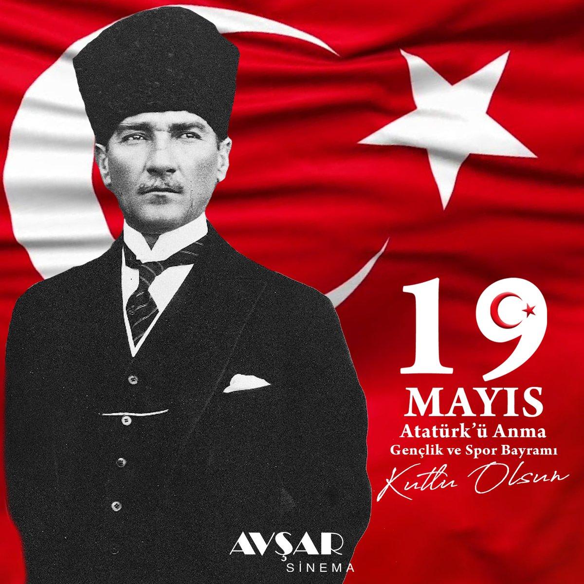 19 Mayıs Atatürk'ü Anma, Gençlik ve Spor Bayramı Kutlu Olsun.  #19MAYIS1919 https://t.co/DP0iUd4Lr5