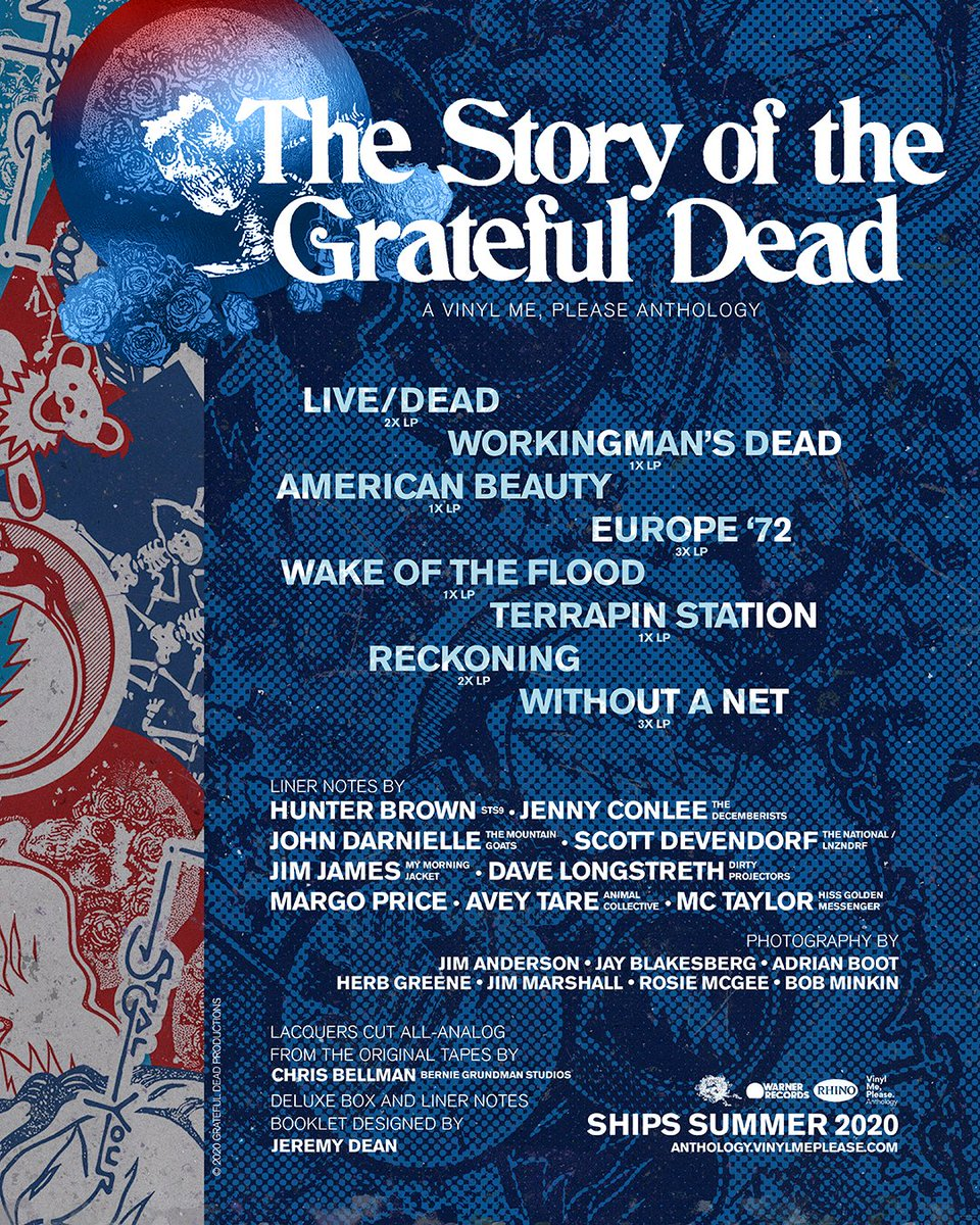 We've teamed up with @VinylMePlease to bring you VMP Anthology: The Story of the Grateful Dead, an 8 album, 14 disc set that illustrates & captures the breadth & influence of the band.   Limited to 7,500. Secure your spot:  #GratefulDead #vinylrecords