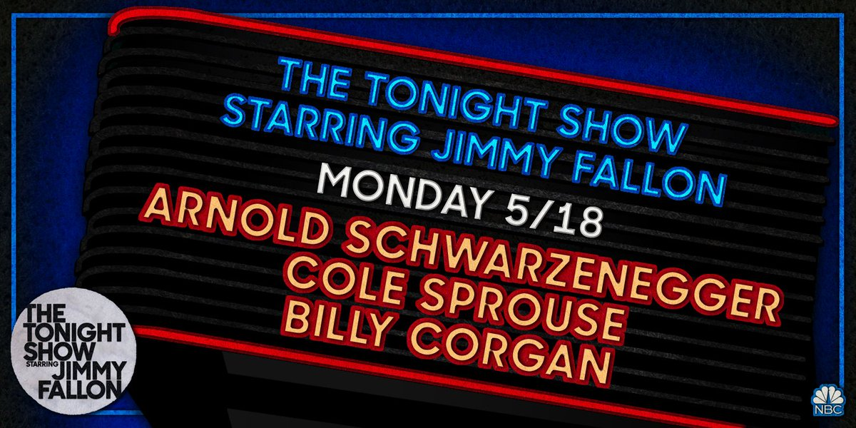 This week of #FallonAtHome kicks off with Arnold @Schwarzenegger, @colesprouse, & a performance from @Billy Corgan!
