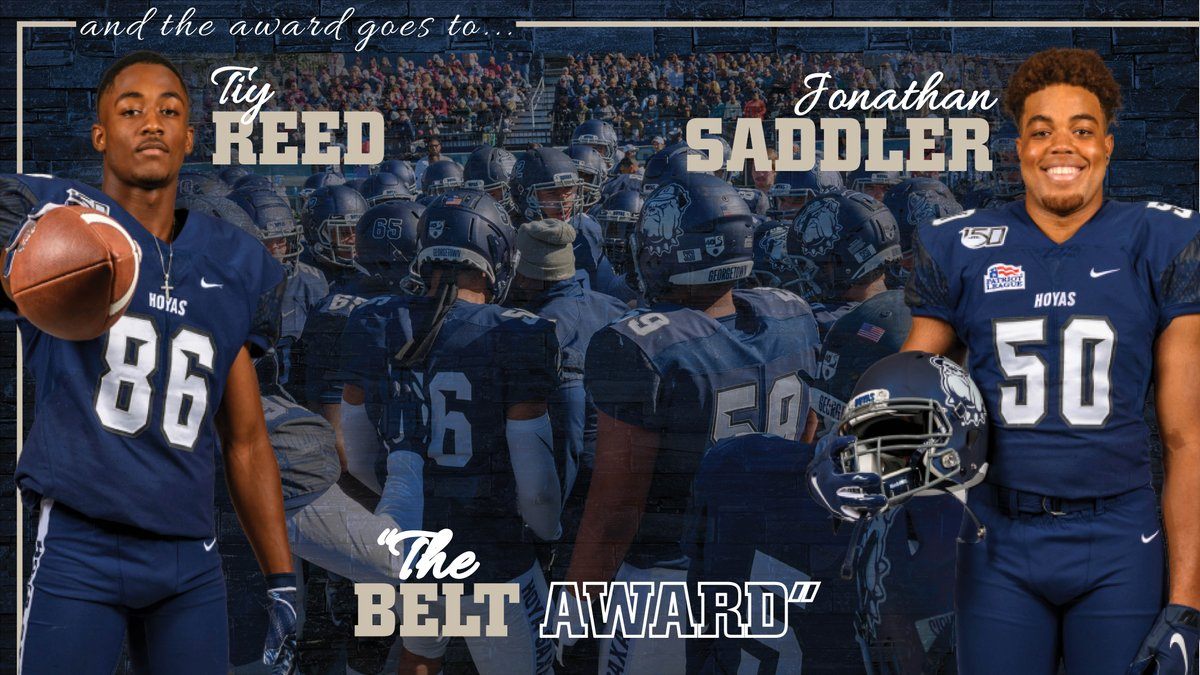 Day in and day out, Tiy Reed and Jonathan Saddler worked hard to get themselves and their teammates 1% better. They are very deserving recipients of The Belt Award! #HoyaSaxa #DefendtheDistrict