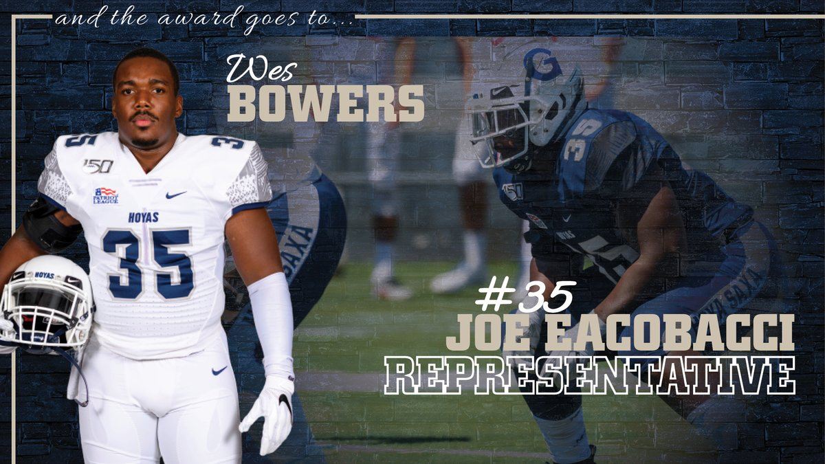 Proud to have Wes Bowers representing the #Hoyas with the No. 35 Joe Eacobacci Memorial Jersey for a 2nd-straight year. He becomes just the 3rd player to wear it for 2 years since the memorial jerseys inception in 2003. #HoyaSaxa #DefendtheDistrict #SISU