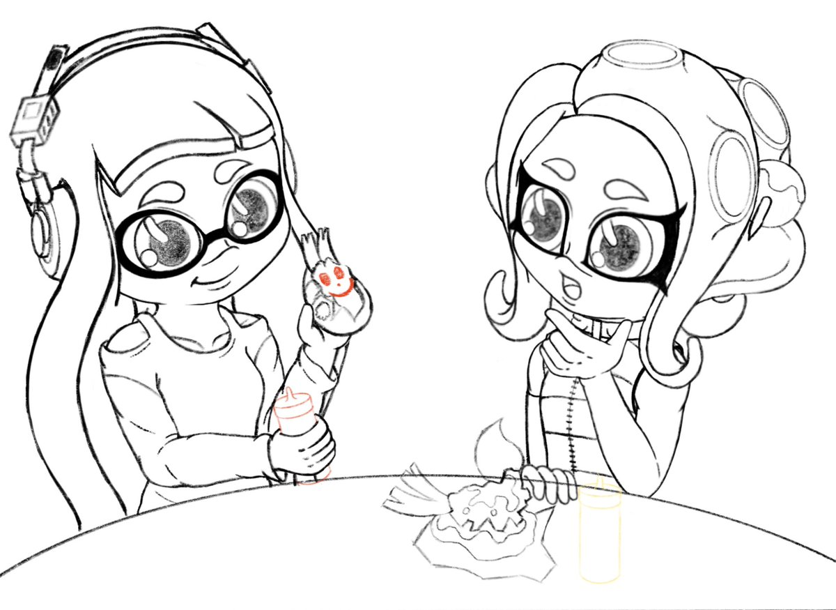 Splatfest is just around the corner! Here's a little sneak peak at something I'm working on. I wonder what the outcome of this interaction will be. 🤔