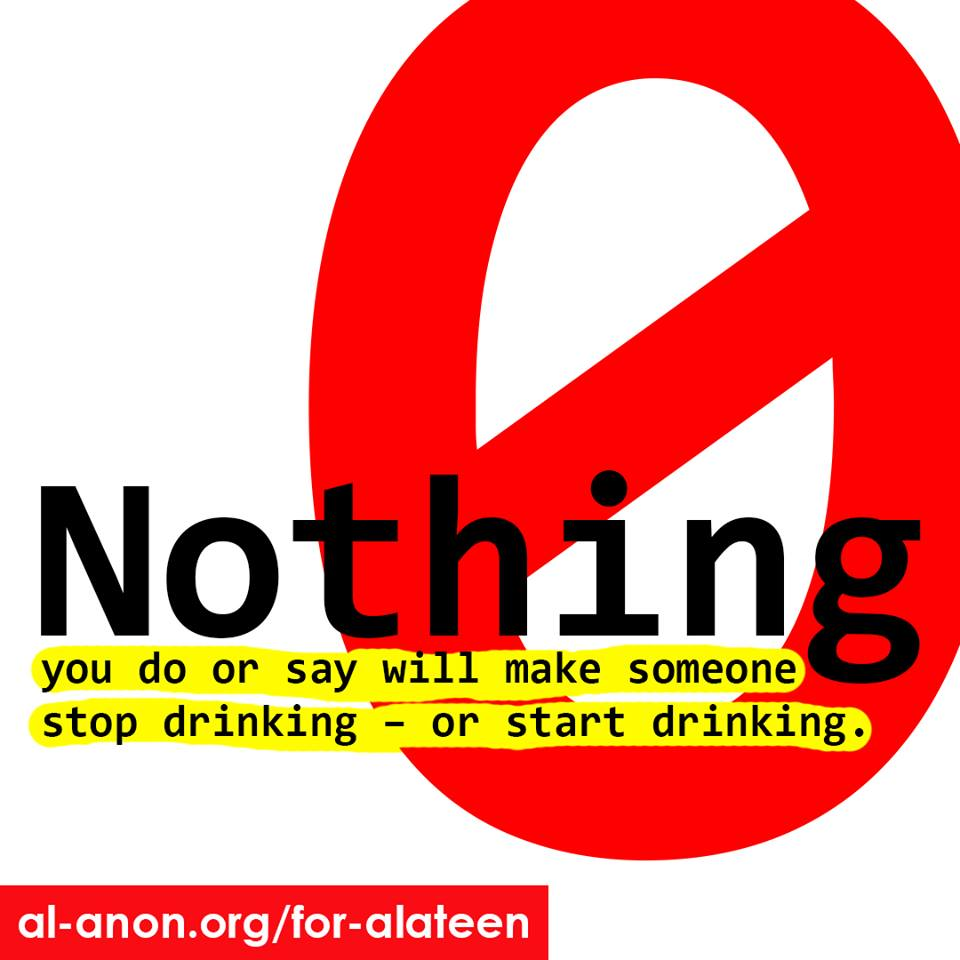 You can't stop anyone from drinking, but you can get support for yourself in #Alateen.   Meeting http://goo.gl/8F4WSB     Chat http://goo.gl/4X17GY   #AlAnon #FamilyDisease #FamilyRecovery #teensupport #COA #alcoholism #addiction #myrecovery #12Step #recovery #AApic.twitter.com/P2ly5tDiej