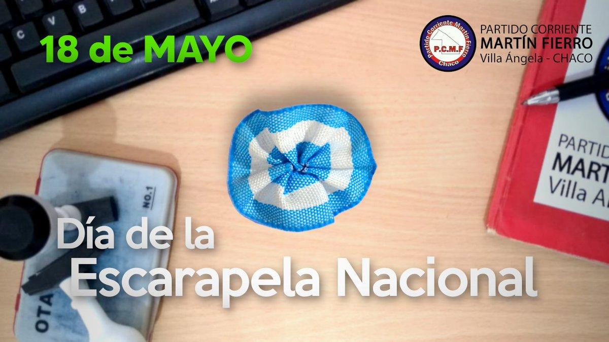 18 de Mayo - Día de la Escarapela Nacional   Nuestro mayor símbolo la Escarapela, porque somos Argentinos la llevamos en el corazón con orgullo 🔵⚪🔵 #LaEscarapelaNosUne #ArgentinaDePie #ArgentinaUnida https://t.co/eQq8NnFvvD