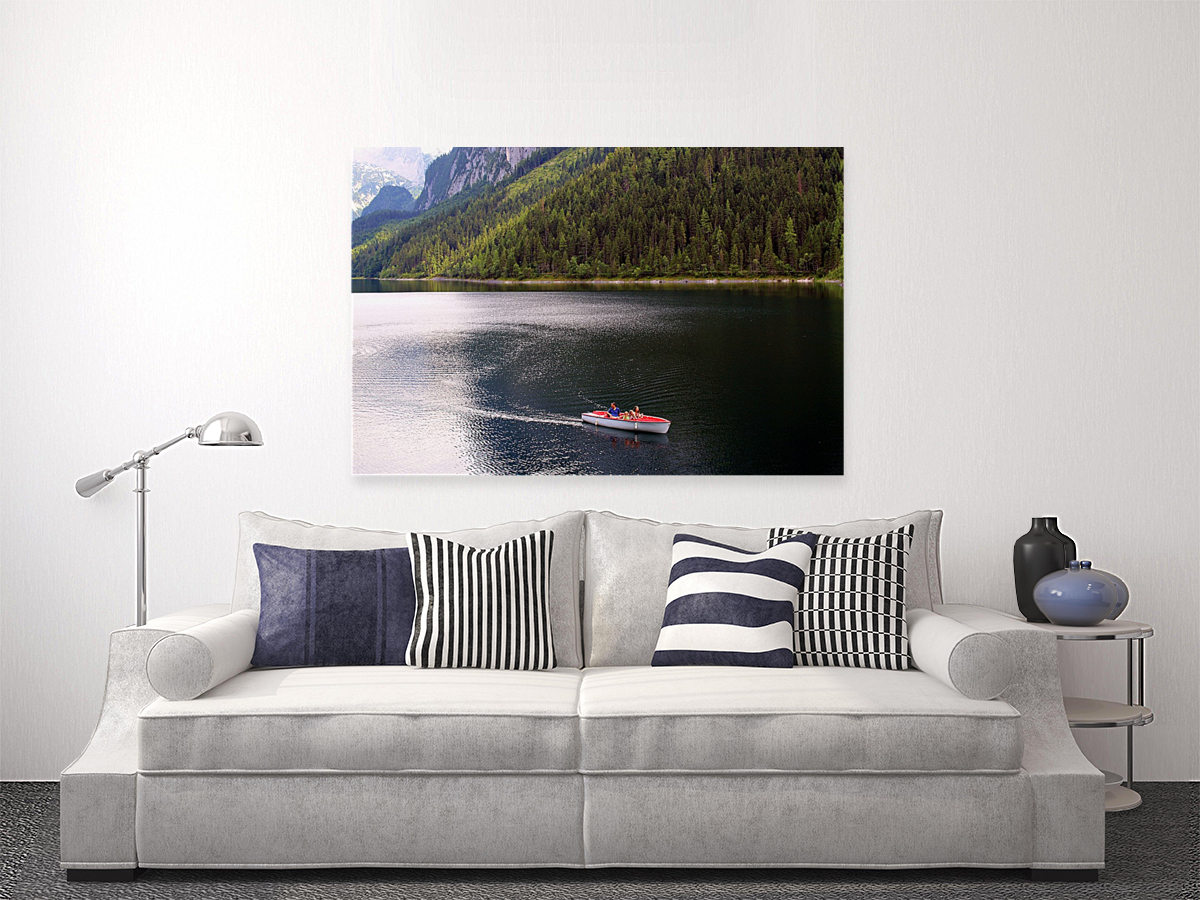 """A piece that give great incentive to go outdoors, """"Boating day out"""" is a beautiful artwork that encompasses a #boat on a #lake. It can now be yours to have permanently yours. #StreetArt #art #interiordesign #Quarantine  #photographylovers #wallart #homedecor #PHOTOS #decorandwallpic.twitter.com/dBxRXuKnTB"""