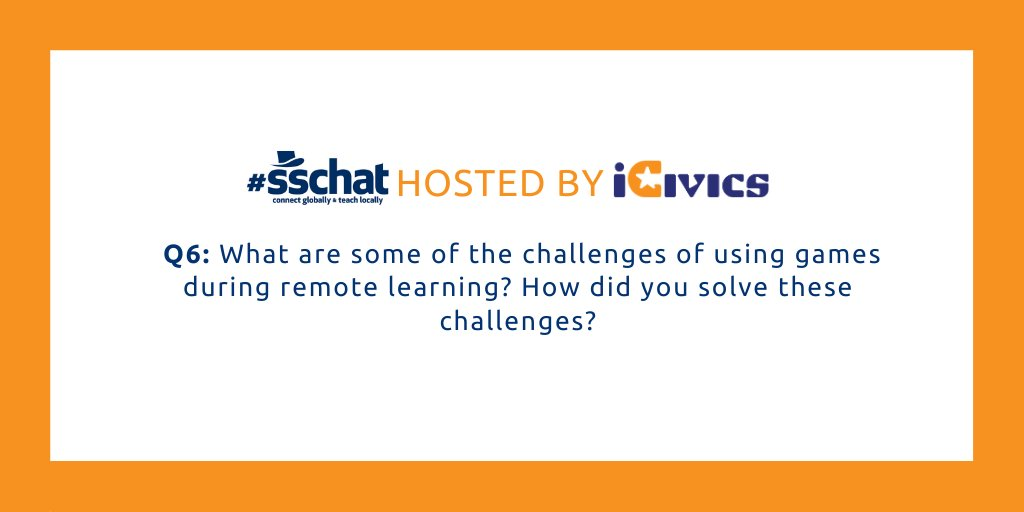 We don't want this chat to end... Last but certainly not least, Q6. #sschat
