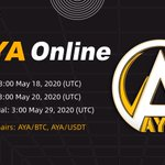 Image for the Tweet beginning: New listing: $AYA  #CoinEx is planning