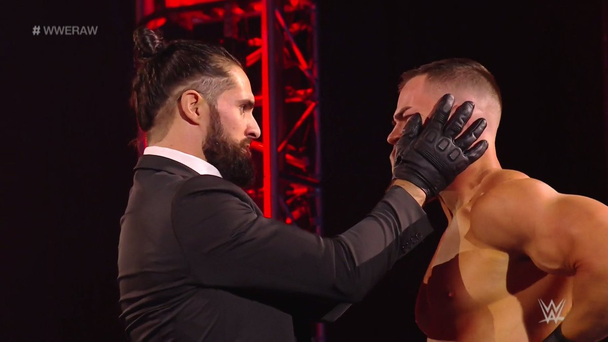 Has @WWERollins found his newest disciple?!  #WWERaw  @austintheory1<br>http://pic.twitter.com/AYt9XcZPtp