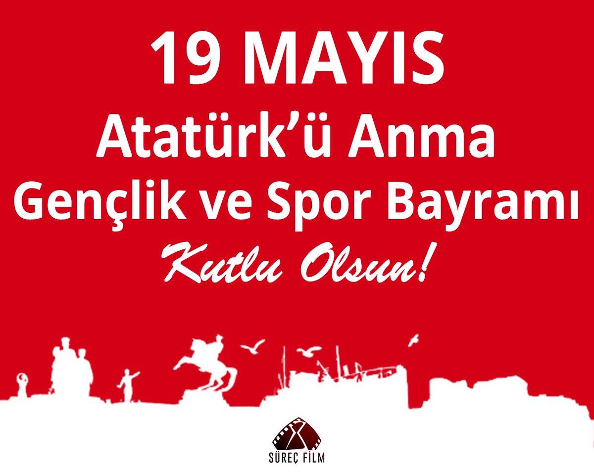 #19Mayıs Atatürk'ü Anma, Gençlik ve Spor Bayramı kutlu olsun! 🇹🇷 https://t.co/16I4r9sYfw