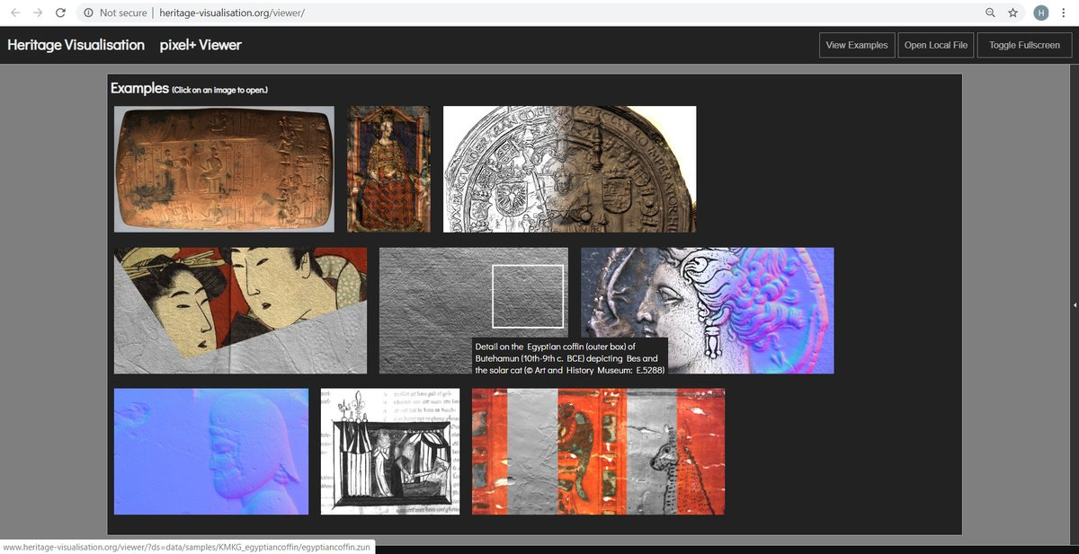 1/9 pixel+ online viewer, merging #RTI #PTM #PLD: one file, many interactive visualization options, discover examples on https://t.co/glvilmO2sa funded by @belspo, partnership with @ArtHistoryBRU @kbrbe #Illuminare @LabHeritage @imagingkuleuven & #ESAT https://t.co/gxMM6AGut7