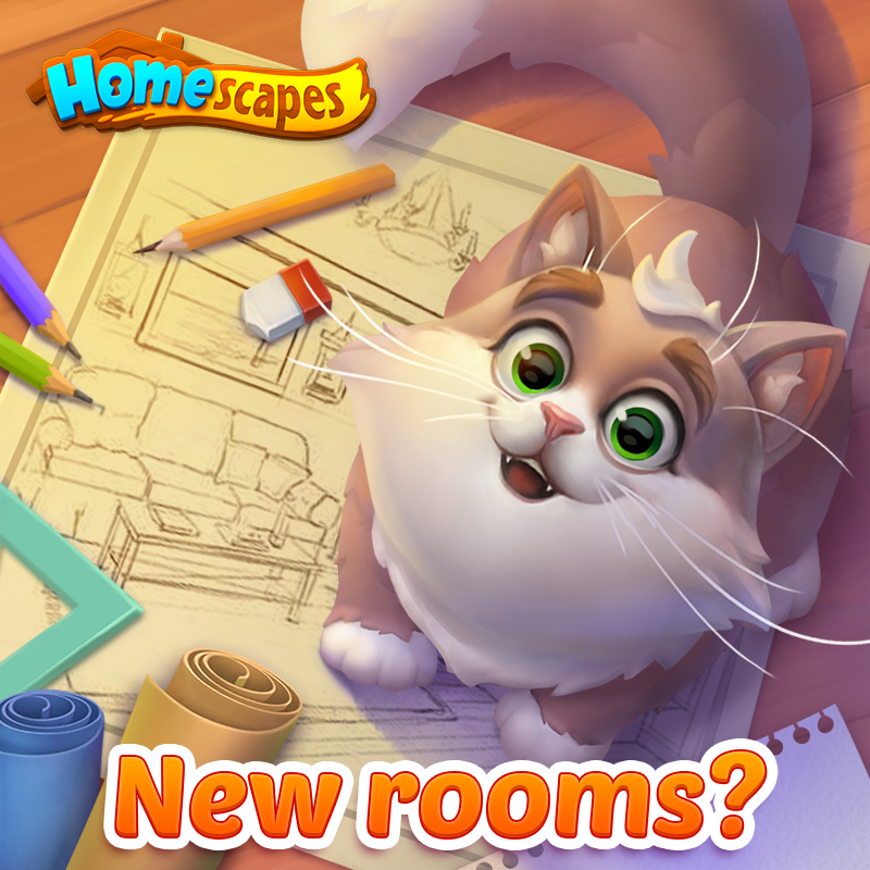 Release your creative genius! 💥 What other rooms and areas would you LOVE to see in Homescapes? Submit your ideas below! 📝 https://t.co/trFTvxglO7