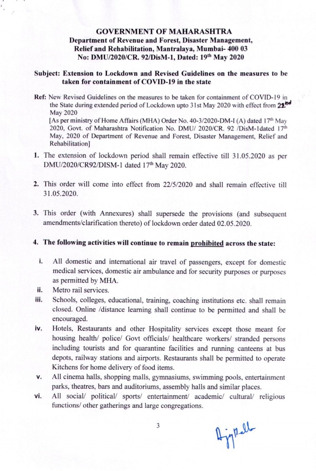 Cmo Maharashtra On Twitter Revised Guidelines During The Extended Period Of Lockdown For The Containment Of Covid 19 In The State 1 3