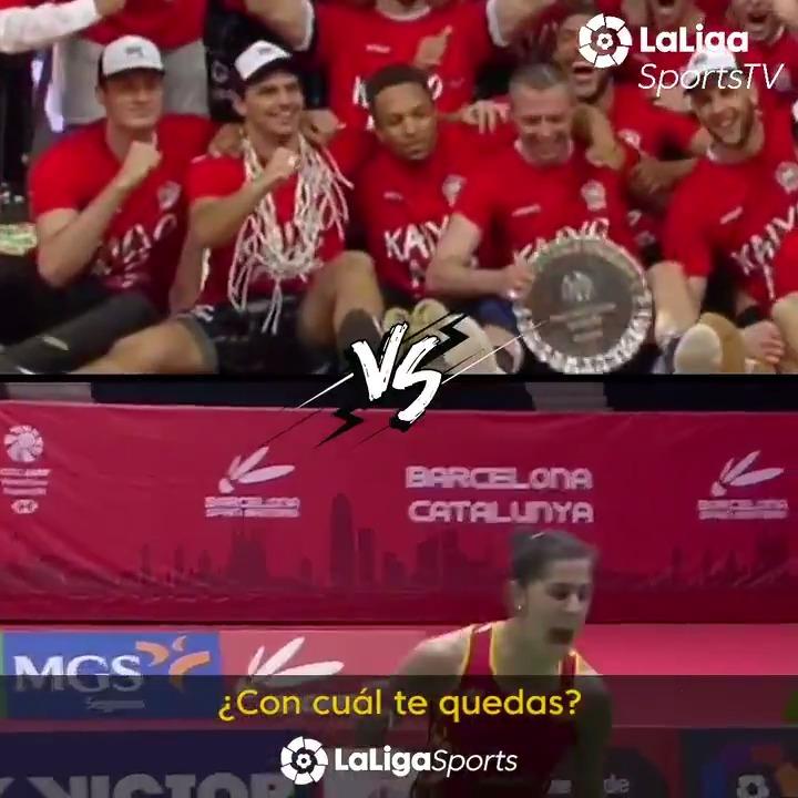 🥁 Preparados, listos... ¡llega la final del #BestMomentLaLigaSportsTV! 🥁  RT 🔁 - El ascenso del @CDBILBAOBASKET (@CompeticionFEB)  🆚  FAV ❤ - @CarolinaMarin en el @BarcelonaBWT (@BadmintonESP)  ¡Vota por el mejor momento de #LaLigaSportsTV! https://t.co/awsVLtg6RV