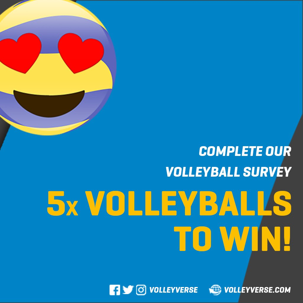 🏐 fans & players - we need your help to better understand how we can support you. #volleyball  Complete✍️ our survey to win one of 5 volleyballs ➡️ https://t.co/tC6CwKAUz6 https://t.co/Bey8v4DXnT