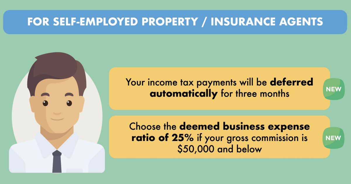 For all the Self-Employed Property and Insurance Agents: Your income tax payments due in May, Jun and Jul have been automatically deferred for three months. More details 👉🏻 https://t.co/it2KKEJCIr. For info on deemed expense ratio, visit https://t.co/wPHuEGSqti. https://t.co/cRvgbMJv8C