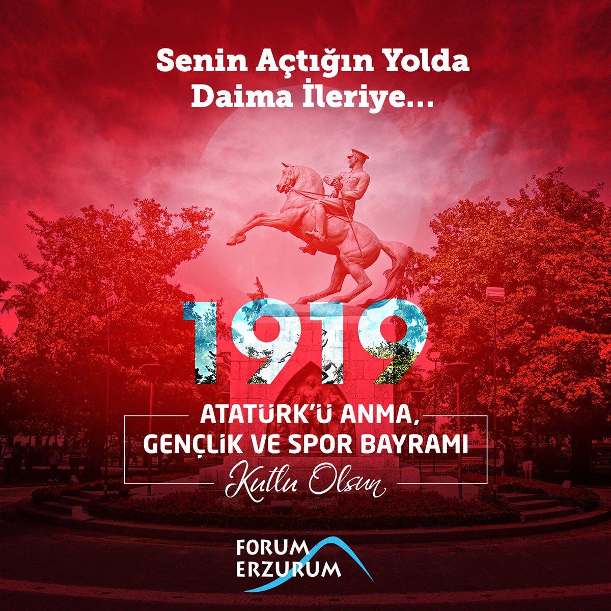 Daha güçlü yarınların mimarı olan tüm gençlerimizin, 19 Mayıs Atatürk'ü Anma, Gençlik ve Spor Bayramı kutlu olsun. #19Mayıs https://t.co/rwg1er8IBS