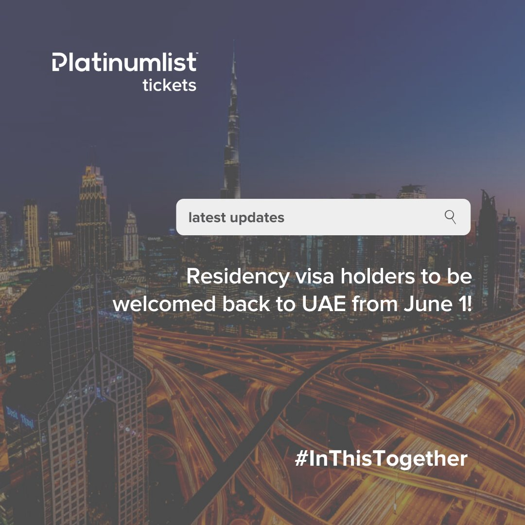 Here's to some good news! 🕺🏻✨UAE allows return of residents stranded outside country starting on June 1!
