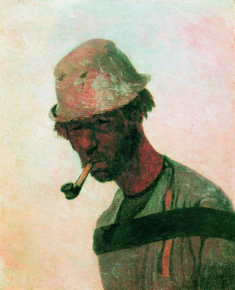 Burlak, 1870 wikiart.org/en/ilya-repin/… #russianart #wikiart