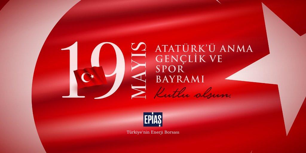 Gençliğimizin enerjisiyle ülkemiz için durmadan, yılmadan çalışacağız. Tıpkı 101 sene evvel olduğu gibi... #19Mayıs Atatürk'ü Anma, Gençlik ve Spor Bayramımız kutlu olsun. 🇹🇷 https://t.co/OCEO0ZkAs7