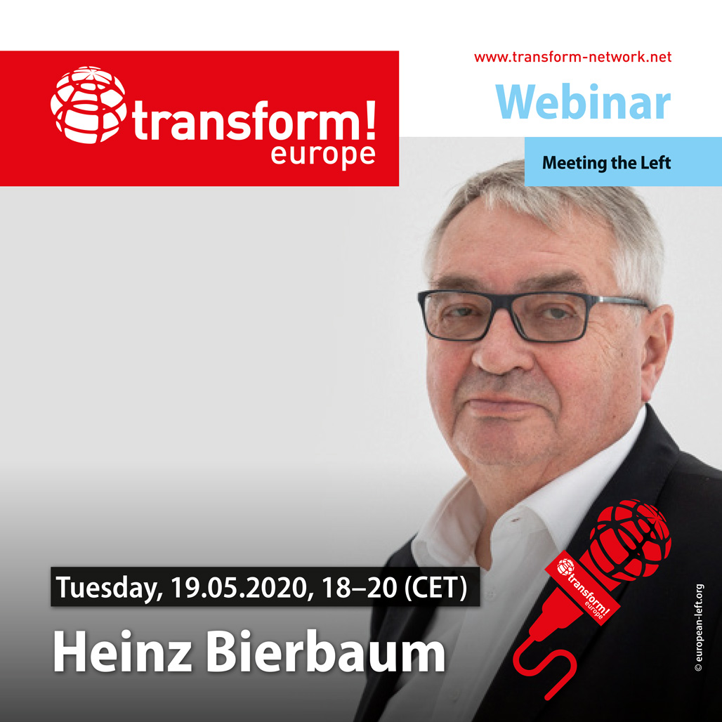 Today at 18:00 (CET) join the interview with @LeftHeinz at @transform_ntwrk ! The event will be interactive: the audience will have an opportunity to ask questions of our guest. Registration is required! #COVID19