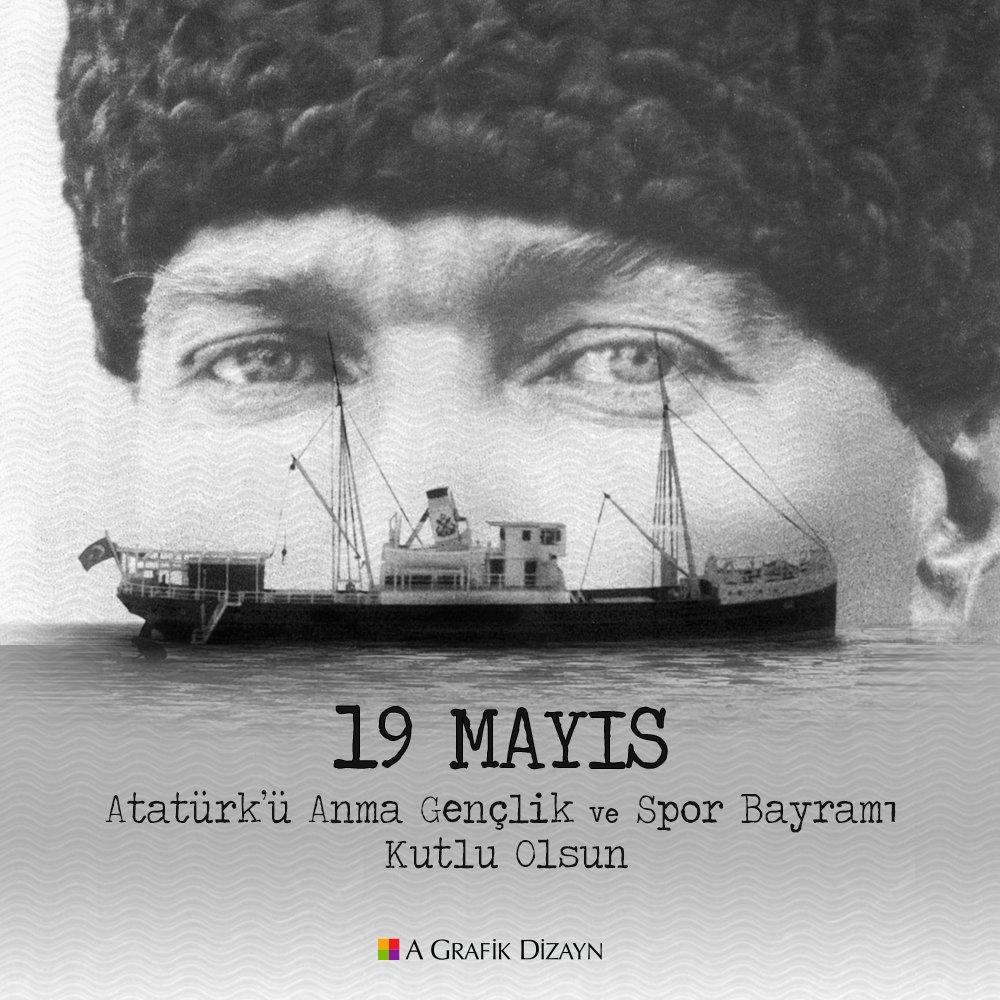 19 Mayıs Atatürk'ü Anma, Gençlik ve Spor Bayramı'mız kutlu olsun! 🇹🇷 #19Mayıs #gençlikvesporbayramı https://t.co/6Rc6g7KPNw