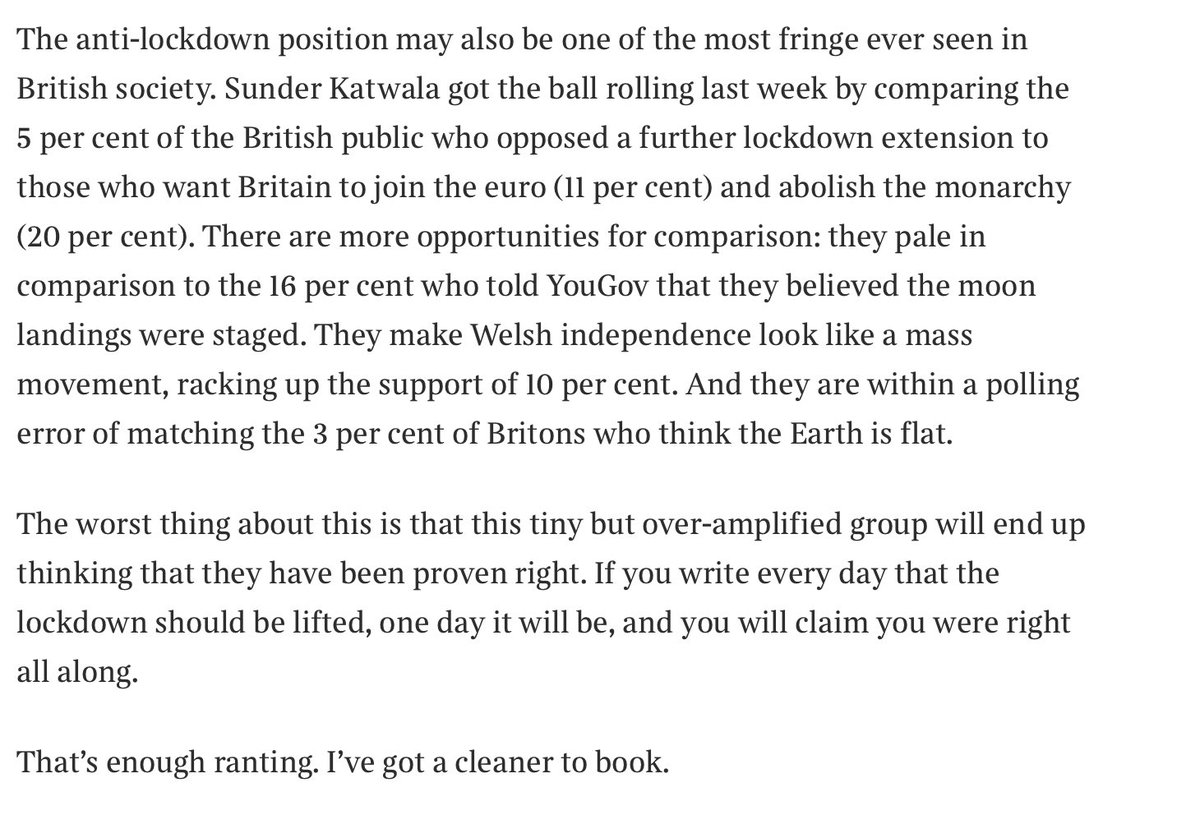 Lovely piece by @jamesjohnson252 for @timesredbox on opinion inside and outside the bubble https://t.co/z5wNWVyjPc https://t.co/VPEKYOeSNN