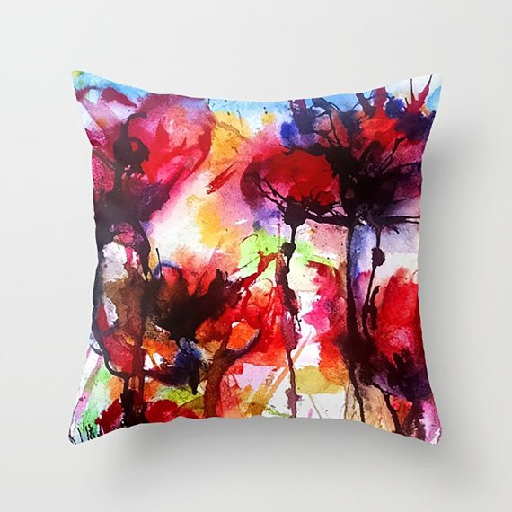 Poppy Pillow, Red Poppy etsy.com/listing/451784… via @EtsySocial #EtsySocial