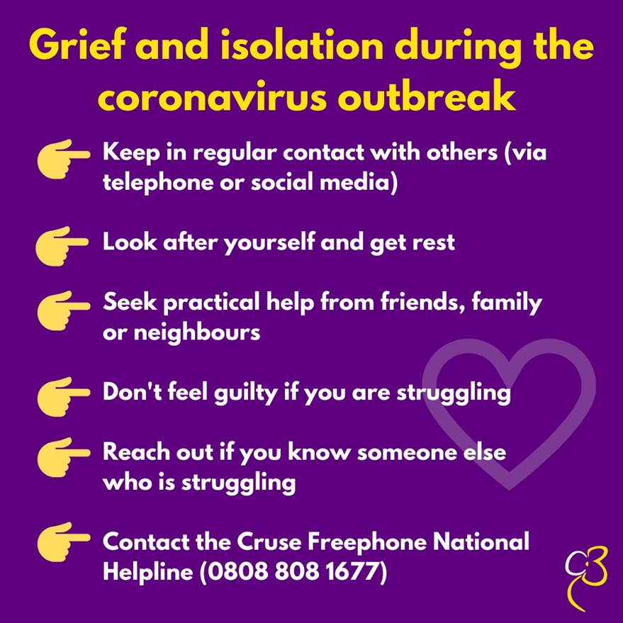 @CruseCare have some helpful tips for how to deal with grief and the feelings of isolation during this period of lockdown. Please reach out if you are struggling we are all here to help 💙 #MentalHealthAwarenessWeek #KindnessMatters #babyloss #stillbirth