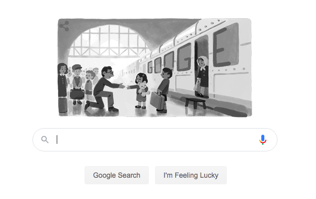 """If something is not impossible, there must be a way to do it""""- Today is Great Briton, Sir Nicholas Wintons birthday. He rescued over 600 Jewish refugees through the Kinderstransport. Todays Google search honours him. Liverpool St stn & Berlin honour him with twinned statues."""