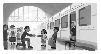 My Father arrived at Liverpool Street Station from Prague in 1938 thanks to this amazing man and his courage. Im forever grateful. Thanks @google for honouring him today #NicholasWinton
