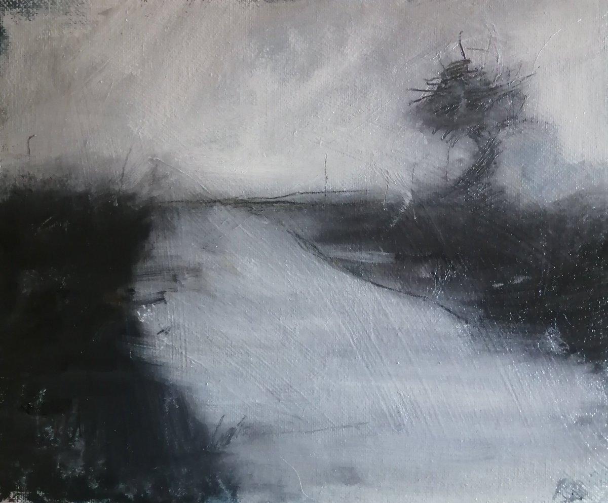 Winter Wiltshire landscape SOLD. Oil on board. http://rosemaryburnartist.com #artists #artcollector #dailypainter #britishart #landscapespic.twitter.com/AcfVDlmZQ1