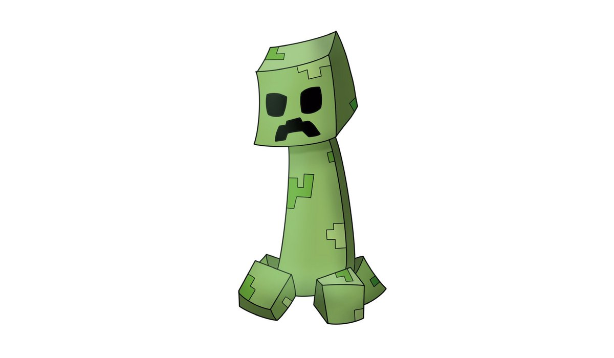 Well, its a little thing I made for school. Its not very fancy or something. But yeah. I wanne share it with you!  Its a creeper so I hope you like it@Minecraft #Minecraft #creeper #minecraftart #minecraftcreeper #art #drawing #digitalart #artist #creeperartpic.twitter.com/jU5KTBCBnP