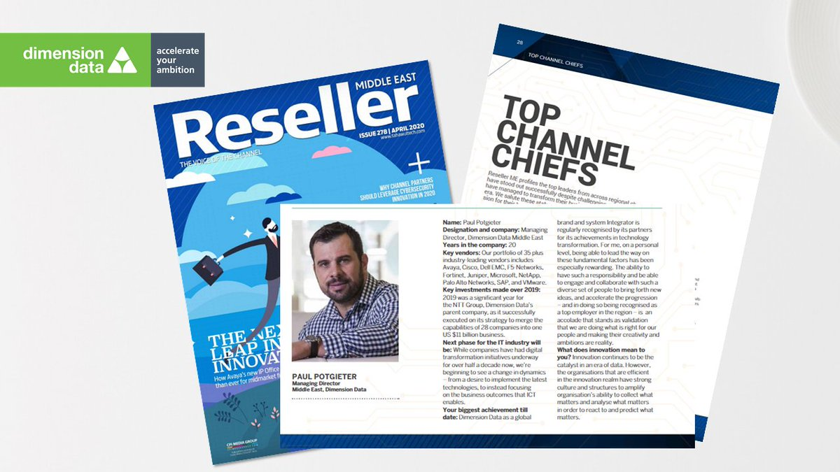 As @tahawultech honours the region's top #channel chiefs for their leadership, resilience, and passion, we're proud to have Paul Potgieter, our MD for the #MiddleEast, featured in this prestigious list https://t.co/QgkInvRCei https://t.co/E8xfAmlkOg