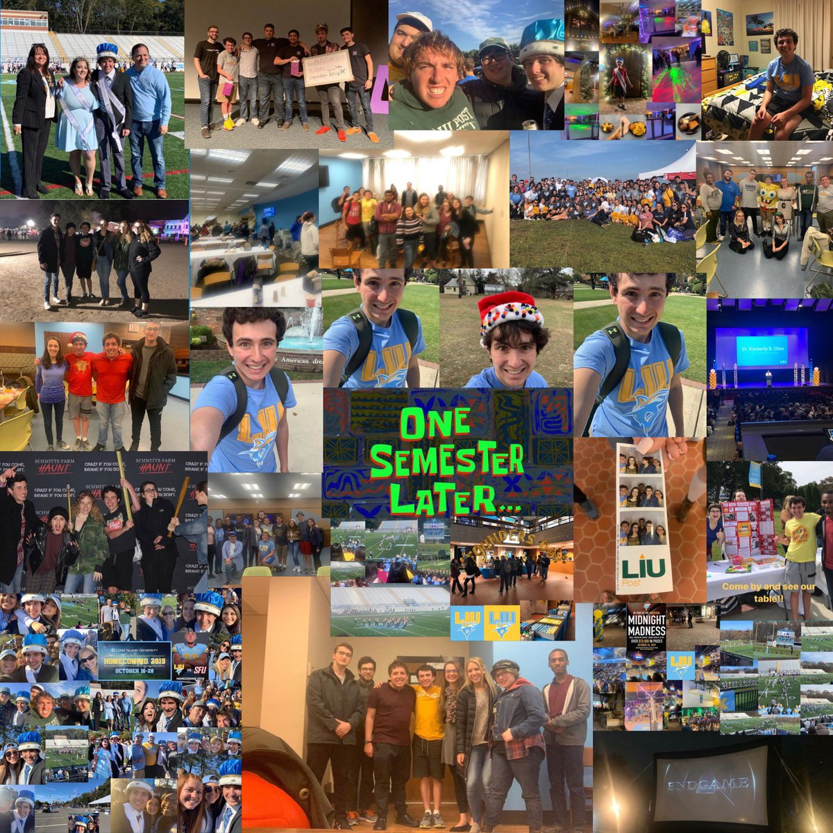 Now here's a throwback to my Fall 2019 semester at LIU Post!!!! So many amazing memories this semester!!!! Thank you all for helping to make it so awesome!!!! Love looking back at these memories!!!! 😊💙💛🦈😁☺️💛🤗 #LIUPost #Fall2019 #Fall2019Semester #LIUPostFall2019