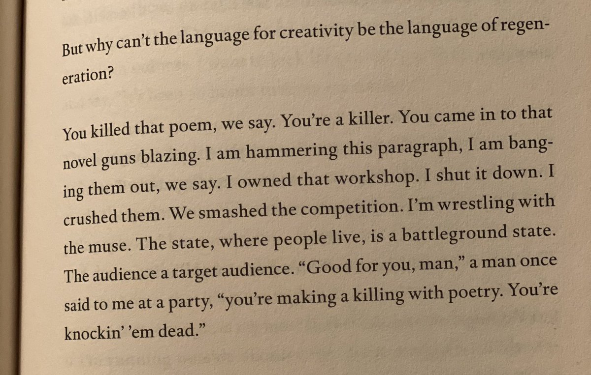 """""""Why can't the language for creativity be the language of regeneration?"""" -Ocean Voung https://t.co/3JjVWHZ1Um"""