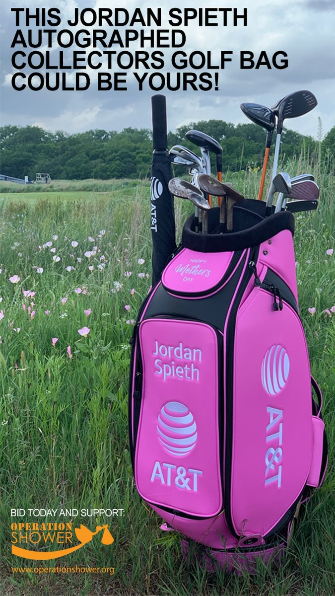 @ATT @JordanSpieth Family Foundation& @OperationShower partnered for a special #MothersDay event. To support military families, a Foundation pillar, Jordan autographed this collector's edition bag for auction! All proceeds benefit Operation Shower. BID NOW https://t.co/B6bpZWJtJg https://t.co/XY5T5MqfFM