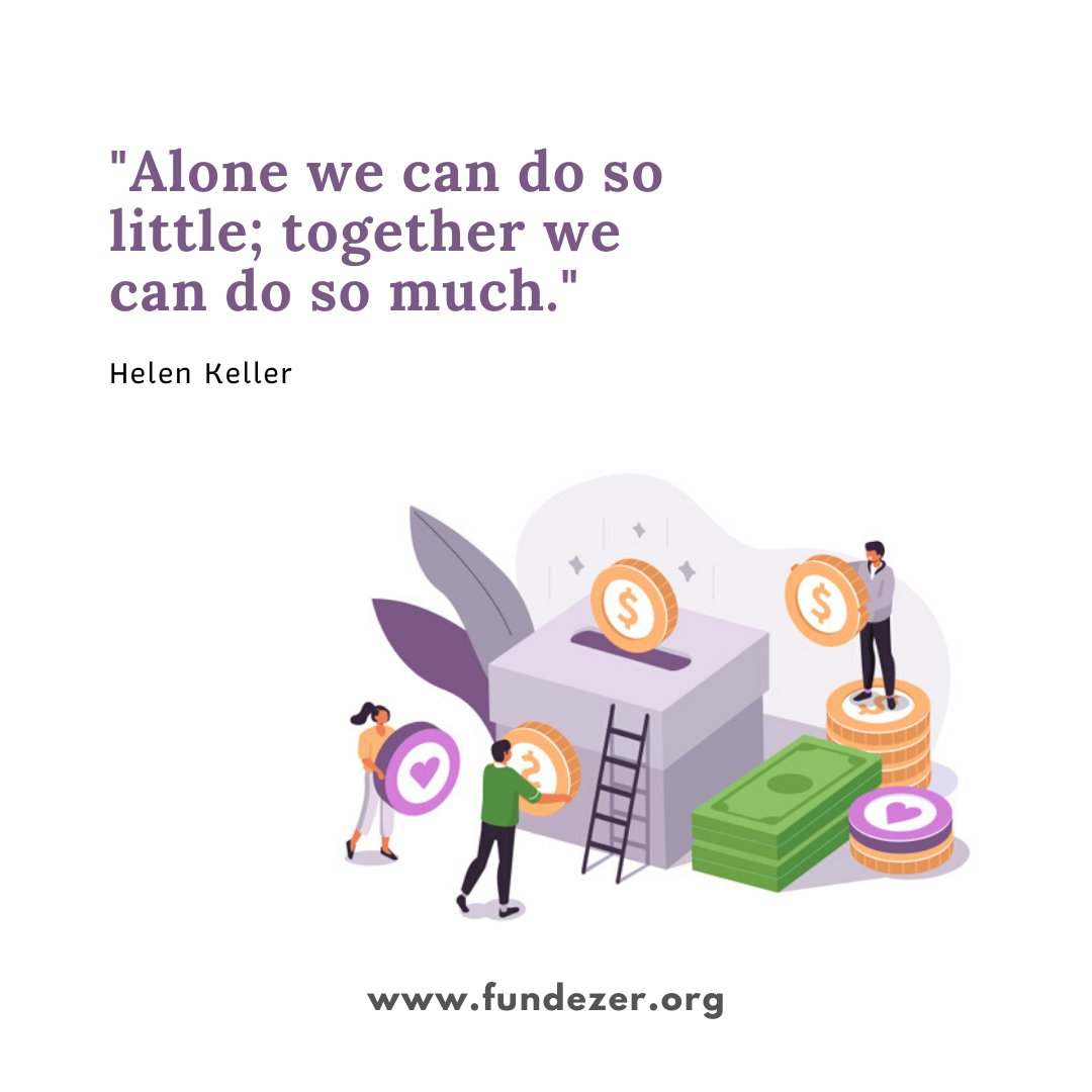 At FundEzer, once you step in, you are not alone. We believe that with everyone working together on a common goal, we can achieve things beyond our greatest imagination.   Be part of the community, go to http://www.fundezer.org  and support a cause.   #medicalfunding #fundraising pic.twitter.com/hgGhWqghSw