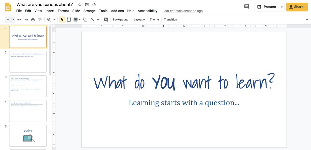 "If youre exhausted but want to keep students engaged for the last couple of weeks of this year, check out this ""What are YOU curious about?"" project. It uses 5Es model to structure a student-led investigation. catlintucker.com/2020/05/what-a… #edchat #onlinelearning #CAedchat #CUEchat"