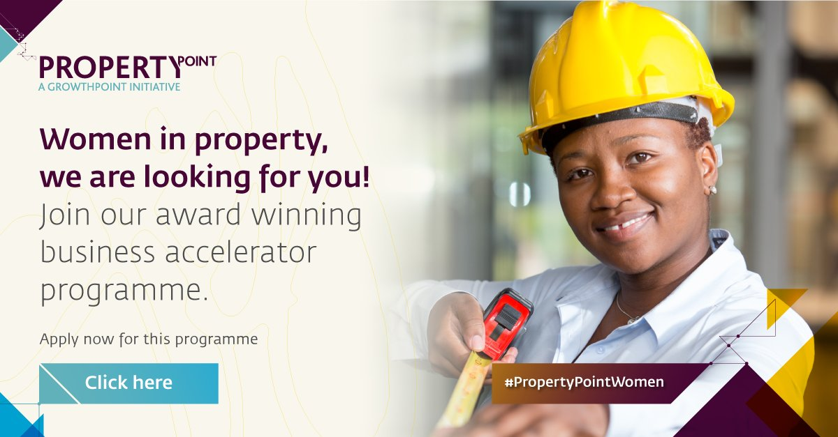 Be part of the programme that has facilitated market opportunities worth R1.5bn over the last decade.  We are looking for 15 women lead the business to take to the next level. Get more information and apply via the link below.  #PropertyPointWomen  https://t.co/WvlI0WnxYu https://t.co/jQ8v3q0UCT