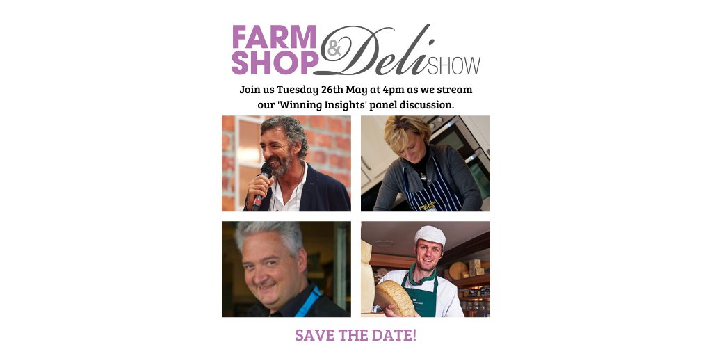 This is going to be interesting!   Join @FarmShop_Deli next Tuesday at 4pm as they chat with Farm Shop & Deli awards winners about how they've been adapting to #coronavirus.   Pop it in your diary and see you there 📅