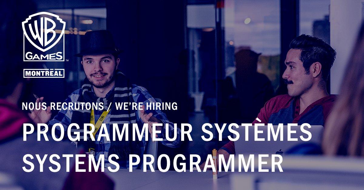 Hot job de la semaine 🔥 : Programmeur (Systèmes) Rejoignez-nous! https://t.co/ZRA2KQcqQj  💼  Weekly Hot Job 🔥 : (Systems) Programmer  Join us! https://t.co/A80J1PoWgF https://t.co/YsZP3VBJ6l