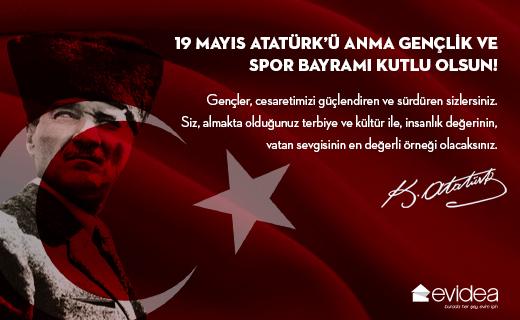 19 Mayıs Atatürk'ü Anma Gençlik ve Spor Bayramı Kutlu Olsun. 🎈  #19Mayıs #GençlikveSporBayramı #19MayısKutluOlsun #19Mayıs1919 #AtatürküAnmaGençlikveSporBayramı #Evidea #MustafaKemalAtatürk #Atatürk https://t.co/mqFqv0ps2K