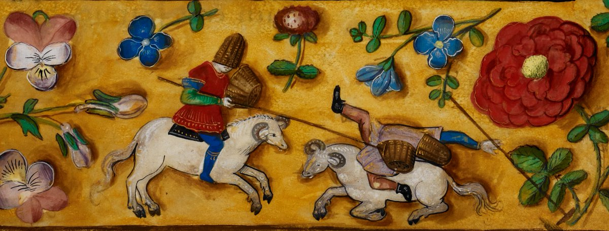 Medieval jousting could be quite the baa-lancing act!  Check out today's blogpost on tournaments: